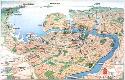 St-Petersburg-harita